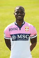 Jonathan MENSAH - 29.09.2015 - Photo officielle - Evian Thonon - Ligue 2<br /> Photo : Jean Paul Thomas / Icon Sport