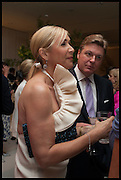 TANIA BRYER; ROD BARKER, Cartier dinner in celebration of the Chelsea Flower Show. The Palm Court at the Hurlingham Club, London. 19 May 2014.