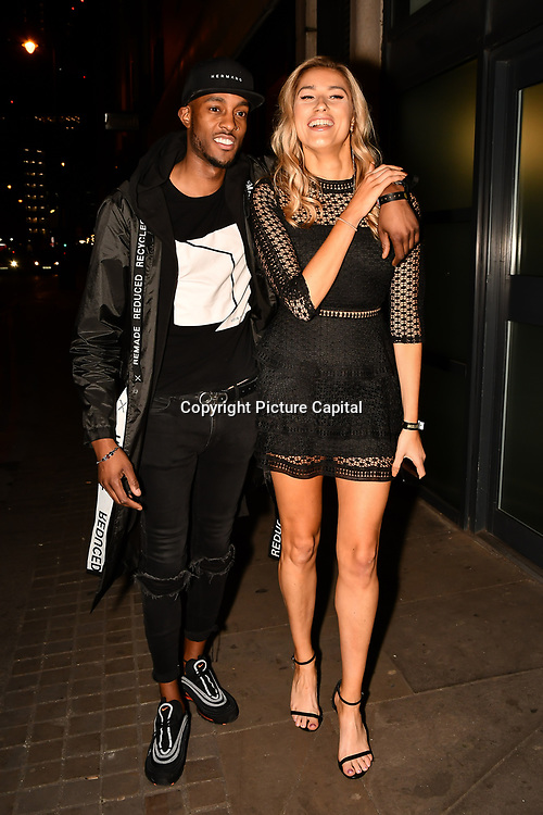 Stefan Pierre and Lilly Douse attend Bachelor girls wrap party after Channel 5 serial of The Bachelor girls 2019 UK  17 desperate female complete to win Alex Marks. Five Eliminated girls continues enjoy the single life party at Balle Ballerson in fact, in the UK there are 1.1 millions female more than male on 27 March 2019, London, UK.