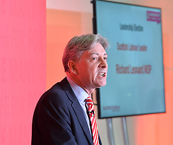 Richard Leonard MSP is unveiled as the newly elected leader of Scottish Labour, following a leadership contest where he defeated Anas Sarwar.<br /> <br /> © Dave Johnston/ EEm