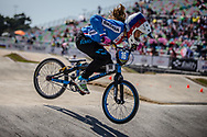 13 Girls #16 (KOSARKOVA Sabina) CZE at the 2018 UCI BMX World Championships in Baku, Azerbaijan.