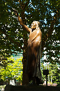 2017 JULY 25 - The Chief Sealth statue on a sunny summer day in Seattle, WA, USA. By Richard Walker