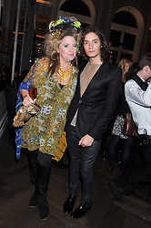 KATRINE BOORMAN and TOMAS AUKSAS at a dinner hosted by Pablo Ganguli and Ella Krasner to celebrate the 10th Anniversary of Liberatum and in honour of Sir Peter Blake held at The Corinthia Hotel, Nortumberland Avenue, London on 23rd November 2011.