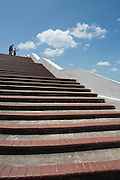 PANAMA, PANAMA - MARCH 07: Stairs at Plaza de Francia. March 07, 2010. Panama, Panamá. (Photo: Rubén Alfú / Istmophoto)