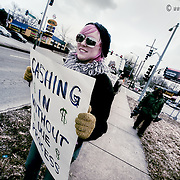 The Liberty Restoration Project holds a protest at 39th and Southwest Trafficway, KCMO, over the red light traffic cameras