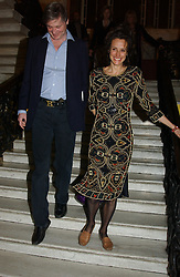 The MARQUESS & MARCHIONESS OF WORCESTER at a party to celebrate the publication of Andrew Robert's new book 'Waterloo: Napoleon's Last Gamble' and the launch of the paperback version of Leonie Fried's book 'Catherine de Medici' held at the English-Speaking Union, Dartmouth House, 37 Charles Street, London W1 on 8th February 2005.<br /><br />NON EXCLUSIVE - WORLD RIGHTS