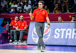 Sergio Scariolo, head coach of Spain during basketball match between National Teams  Spain and Russia at Day 18 in 3rd place match of the FIBA EuroBasket 2017 at Sinan Erdem Dome in Istanbul, Turkey on September 17, 2017. Photo by Vid Ponikvar / Sportida