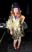 05.SEPTEMBER.2010. LONDON<br /> <br /> SINGER PALOMA FAITH LEAVING LE CAPRICE RESTAURANT IN MAYFAIR WEARING A GOLD JACKET AND A TOP HAT.<br /> <br /> BYLINE: EDBIMAGEARCHIVE.COM<br /> <br /> *THIS IMAGE IS STRICTLY FOR UK NEWSPAPERS AND MAGAZINES ONLY*<br /> *FOR WORLD WIDE SALES AND WEB USE PLEASE CONTACT EDBIMAGEARCHIVE - 0208 954 5968*