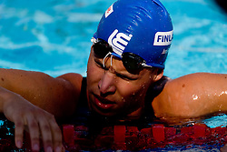 Jani Rusi of Finland competes during the Men's 50m Freestyle Heats during the 13th FINA World Championships Roma 2009, on July 31, 2009, at the Stadio del Nuoto,  in Foro Italico, Rome, Italy. (Photo by Vid Ponikvar / Sportida)