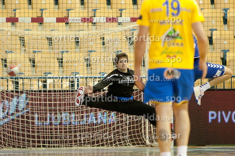 Matevz Skok of Celje PL during handball match between RK Celje Pivovarna Lasko vs RK Cimos Koper in 9th Round of 1st NLB Leasing Champions league 2011/12, on May 19, 2012 in Arena Zlatorog, Celje, Slovenia. (Photo by Urban Urbanc / Sportida.com)