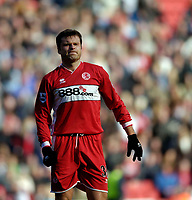 Photo: Jed Wee.<br /> Middlesbrough v Newcastle United. The Barclays Premiership. 09/04/2006.<br /> <br /> Middlesbrough's Mark Viduka grimaces.