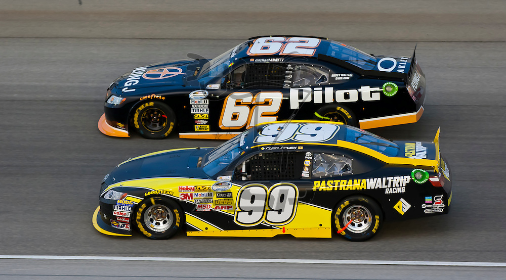 JOLIET, IL - JUNE 04, 2011:  Ryan Truex (99) battles for position during the STP 300 race at the Chicagoland Speedway in Joliet, IL.
