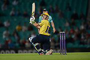 Sam Hain of Birmingham Bears batting during the NatWest T20 Blast South Group match between Surrey County Cricket Club and Warwickshire County Cricket Club at the Kia Oval, Kennington, United Kingdom on 25 August 2017. Photo by Dave Vokes.