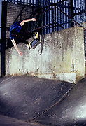 Horsey performing a wallride.