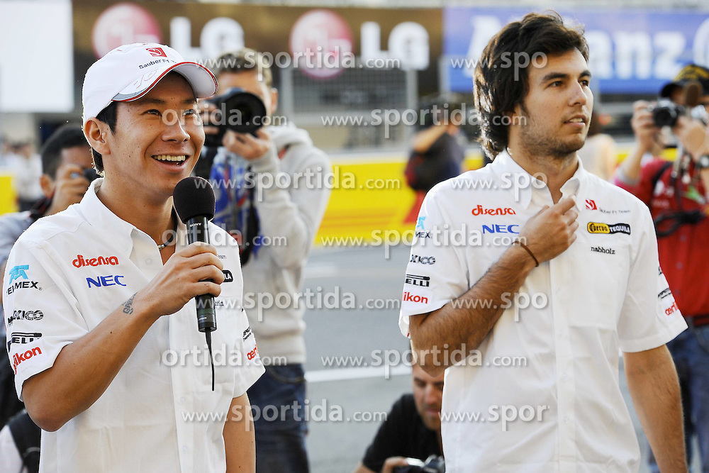 06.10.2011, Suzuka International Racing Course, Suzuka, JPN, F1, Grosser Preis von Japan, Suzuka, im Bild Kamui Kobayashi (JPN), Sauber F1 Team - Sergio Perez (MEX) Sauber F1 Team // during the Formula One Championships 2011 Large price of Suzuka held at the Suzuka International Racing Course, 2011-10-06  EXPA Pictures © 2011, PhotoCredit: EXPA/ nph/  Dieter Mathis        ****** only for AUT, POL & SLO ******