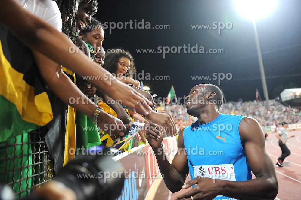 23.08.2012, Stade Olympique de la Pontais, Lausanne, SUI, Athletissima 2012, im Bild Sieger Usain Bolt (JAM), 200m Maenner. EXPA Pictures © 2012, PhotoCredit: EXPA/ Freshfocus/ Urs Lindt..***** ATTENTION - for AUT, SLO, CRO, SRB, BIH only *****