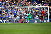 Chelsea Forward Pedro (11) scores a goal (score 3-1) during the Premier League match between Chelsea and Sunderland at Stamford Bridge, London, England on 21 May 2017. Photo by Andy Walter.