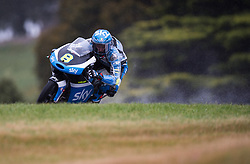 October 21, 2016 - Melbourne, Victoria, Australia - Italian rider Nicolo Bulega (#8) of Sky Racing Team VR46 in action during the 2nd Moto3 Free Practice session at the 2016 Australian MotoGP held at Phillip Island, Australia. (Credit Image: © Theo Karanikos via ZUMA Wire)