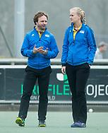 Den Haag - Hoofdklasse hockey dames, HDM-GRONINGEN  (6-2). scheidsrechters Lizelotte Wolter Jan van der Vlist .   COPYRIGHT KOEN SUYK