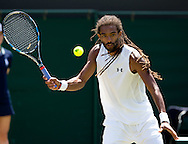 Dustin Brown (GER)<br /> <br /> Tennis - Wimbledon 2015 - Grand Slam ITF / ATP / WTA -  AELTC - London -  - Great Britain  - 4 July 2015.