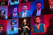 Es Devlin speaks at TED2019: Bigger Than Us. April 15 - 19, 2019, Vancouver, BC, Canada. Photo: Bret Hartman / TED