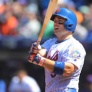 NEW YORK, NEW YORK - APRIL 13: David Wright, New York Mets, batting during the Miami Marlins Vs New York Mets MLB regular season ball game at Citi Field on April 13, 2016 in New York City. (Photo by Tim Clayton/Corbis via Getty Images)