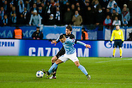 25.11.2015. Malm&ouml;, Sweden. <br /> Vladimir Rodic of Malm&ouml; FF fights for the ball with Maxwell of Paris during the UEFA Champions League match at the Malm&ouml; Stadium. <br /> Photo: &copy; Ricardo Ramirez.