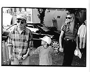Michael J. Fox, son Sam and wife Tracy Pollan. Kids for Kids benefit. Industria Superstudio. NY. 1 October 1995. © Copyright Photograph by Dafydd Jones 66 Stockwell Park Rd. London SW9 0DA Tel 020 7733 0108 www.dafjones.com