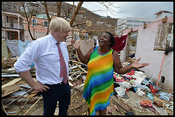 September 13, 2017 - Caribbean, Caribbean, Anguilla - UK Foreign secretary BORIS JOHNSON talking to locals on the British Virgin Islands after Irma storm hit islands of British Virgin Islands and Anguilla which have been hit by Hurricane Irma. (Credit Image: © Andrew Parsons/i-Images via ZUMA Press)