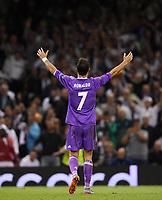 FUSSBALL  CHAMPIONS LEAGUE  FINALE  SAISON 2016/2017 Juventus Turin - Real Madrid      03.06.2017 JUBEL Cristiano Ronaldo (Real Madrid)