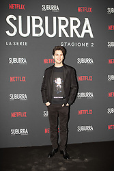 Eduardo Valdarnini at the Red Carpet of the series Suburra 2 at Circolo Degli Illuminati in Rome, Italy, 20 February 2019  (Credit Image: © Lucia Casone/Soevermedia via ZUMA Press)