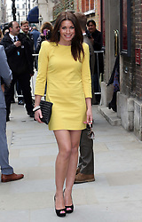 Alison King  arriving for the wedding of Coronation Street actress Helen Worth   at St.James's Church in Piccadilly, London, Saturday 6th   April 2013.  Photo by: Stephen Lock / i-Images