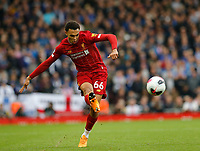 Football - 2019 / 2020 Premier League - Liverpool vs. Leicester City<br /> <br /> Trent Alexander Armstrong of Liverpool, at Anfield.<br /> <br /> COLORSPORT/ALAN MARTIN