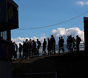 Dundee fans head for the exits after St Johnstones' second goal - Dundee v St Johnstone, SPFL Premiership at Dens Park <br /> <br />  - &copy; David Young - www.davidyoungphoto.co.uk - email: davidyoungphoto@gmail.com