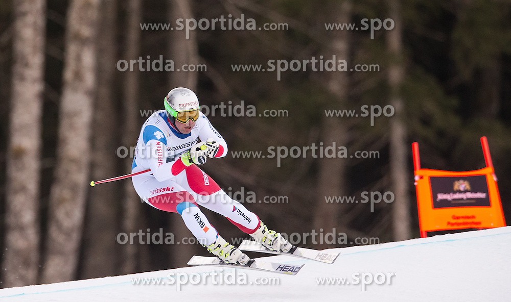 30.01.2016, Kandahar, Garmisch Partenkirchen, GER, FIS Weltcup Ski Alpin, Abfahrt, Herren, im Bild Beat Feuz (SUI, 3. Platz) // 3rd placed Beat Feuz of Switzerland competes in his run for the men's Downhill of Garmisch FIS Ski Alpine World Cup at the Kandahar course in Garmisch Partenkirchen, Germany on 2016/01/30. EXPA Pictures © 2016, PhotoCredit: EXPA/ Johann Groder