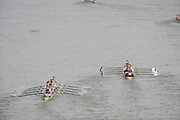 Putney/Barnes,  Great Britain, left Durham University and  University of Bristol -  2008 Head of the River Race. Raced from Mortlake to Putney, over the Championship Course.  15/03/2008  [Mandatory Credit. Peter Spurrier/Intersport Images] Rowing Course: River Thames, Championship course, Putney to Mortlake 4.25 Miles,