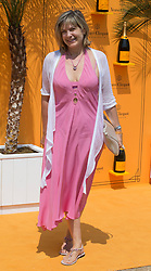 Penny Smith attends The Veuve Clicquot Gold Cup Polo at Cowdray Park Polo Club, West Sussex, United Kingdom.<br /> Sunday, 21st July 2013<br /> Picture by  i-Images