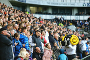 Derby mascot Rammie and the Derby fans celebrate during the EFL Sky Bet Championship match between Derby County and Brentford at the Pride Park, Derby, England on 22 September 2018.
