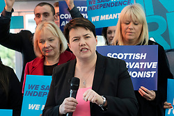 Edinburgh, Scotland, UK. 11th December 2019. Jackson Carlaw, Leader of the Scottish Conservatives and Ruth Davidson at an election rally in Edinburgh  to mark the final day of campaigning before the General Election. Iain Masterton/Alamy Live News
