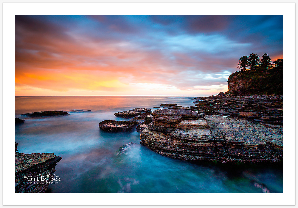 Long exposure of a magical sunset at Avalon [Avalon, NSW, Australia]<br /> <br /> To order please email orders@girtbyseaphotography.com quoting the image number PB108762, and your preferred print size. You will receive a quick reply recommending print media options to best suit your chosen image, plus an obligation-free quotation. See the pricing page for current standard size prices.