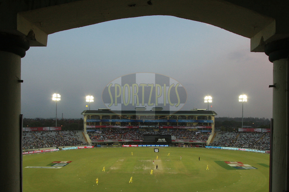 A general view of stadium. during match 9 of the Indian Premier League ( IPL ) Season 4 between the Kings XI Punjab and the Chennai Super Kings held at the PCA stadium in Mohali, Chandigarh, India on the 13th April 2011..Photo by Anil Dayal/BCCI/SPORTZPICS