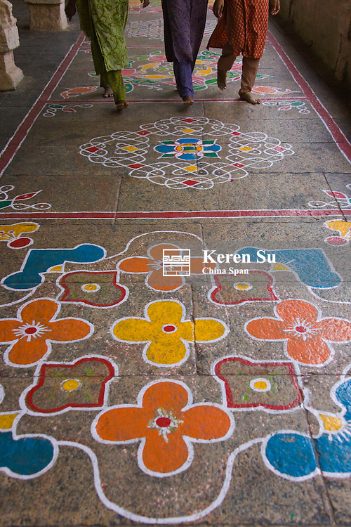 Hindu Mandala paintings, Sree Meenakshi Temple complex, Madurai, Tamil Nadu State, India