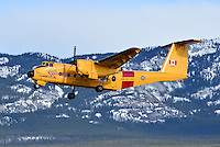 RCAF DeHavilland DHC-5D Buffalo in the climb out of Whitehorse, Yukon