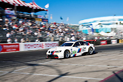 LONG BEACH, CA - APR 15: American Le Mans Driver Bill Auberlen/Dirk Wemer of the BMW Team RLL drive car #55 during practice run. Photo by Eduardo E. Silva