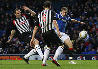 Fotball<br /> Skottland<br /> Foto: Colorsport/Digitalsport<br /> NORWAY ONLY<br /> <br /> Football - Scottish Premier League - Rangers vs. Dunfermline<br /> <br /> Thomas Kind Bendiksen of Rangers opens the scoring with a deflected shot during the Rangers vs. Dunfermline Scottish Premier League match at Ibrox Stadium Glasgow on December 3rd 2011