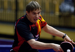 Fedor Kuzmin of Russia at 10th Slovenian Open Table Tennis Championships - Pro Tour Velenje Slovenian Open tournament, in Round 1, on January 15, 2009, in Red sports hall, Velenje, Slovenia. (Photo by Vid Ponikvar / Sportida)