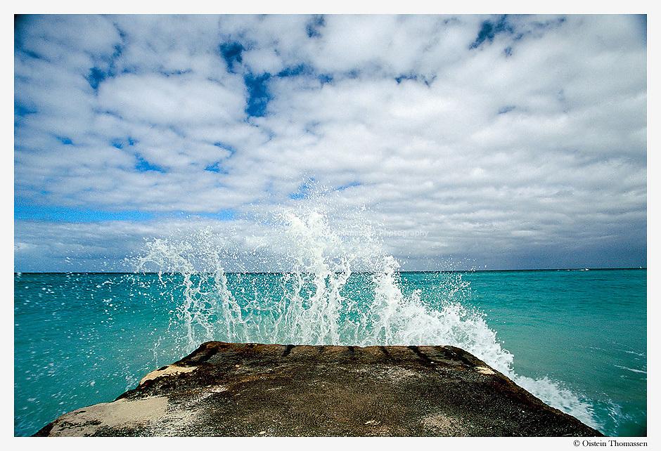 A splash of salt water