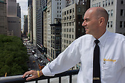 Investigative Engineering Services, Assistant Commissioner Tim Lynch on the roof of the federal NYC Department of Buildings on Broadway.