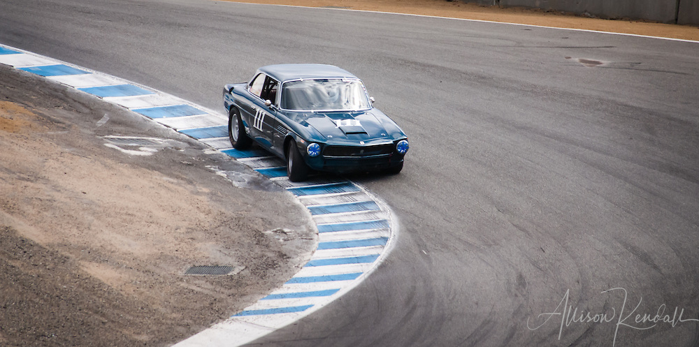 1964 Iso Rivolta GT driven at Laguna Seca by Pete Whitehead during the Rolex Monterey Motorsports Reunion 2013