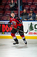 KELOWNA, BC - JANUARY 26:  Dallas Hines #2 of the Vancouver Giants skates against the Kelowna Rockets at Prospera Place on January 26, 2019 in Kelowna, Canada. (Photo by Marissa Baecker/Getty Images)
